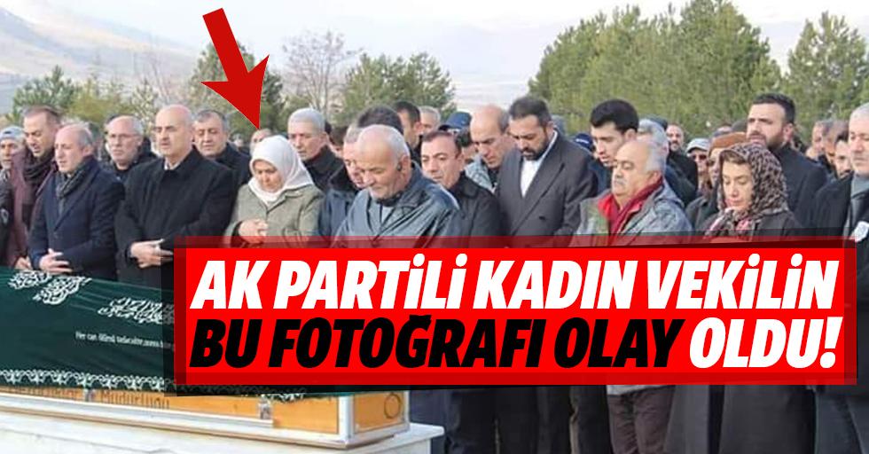 Ak Partili kadın vekilin bu fotoğrafı olay oldu!