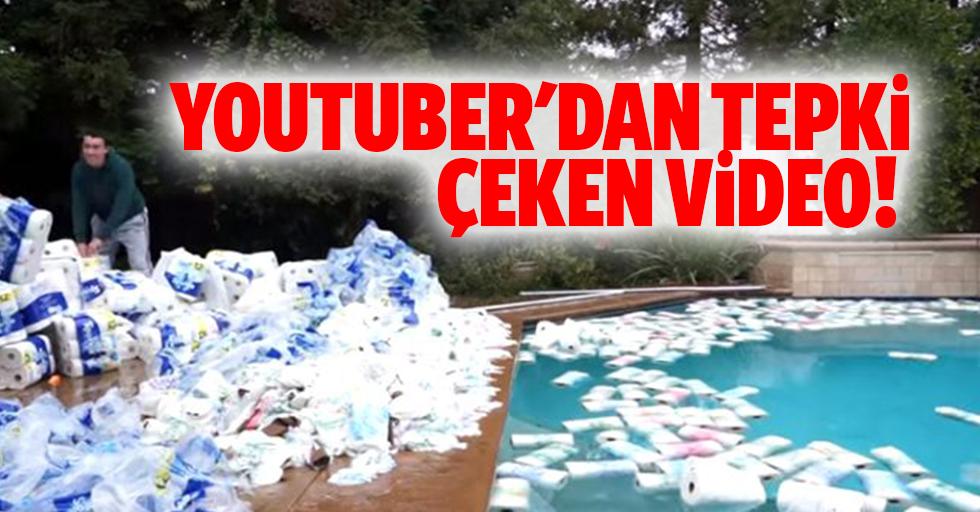 Youtuber'dan tepki çeken video! Binlerce kağıt havluyu böyle israf etti
