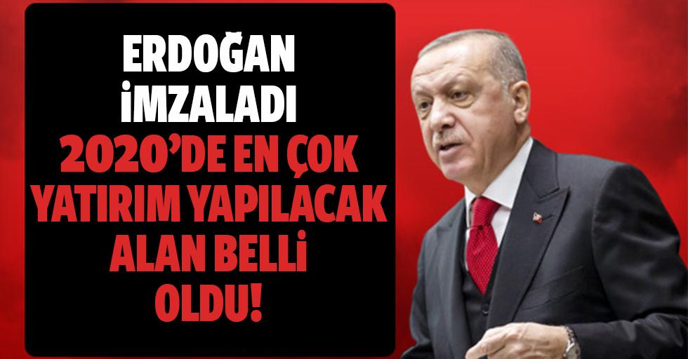 2020 yılı yatırım programı Cumhurbaşkanı Erdoğan'ın imzasıyla yayımlandı