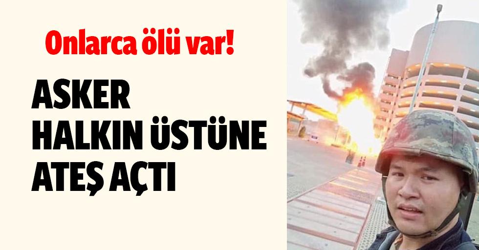 Asker halka saldırdı!