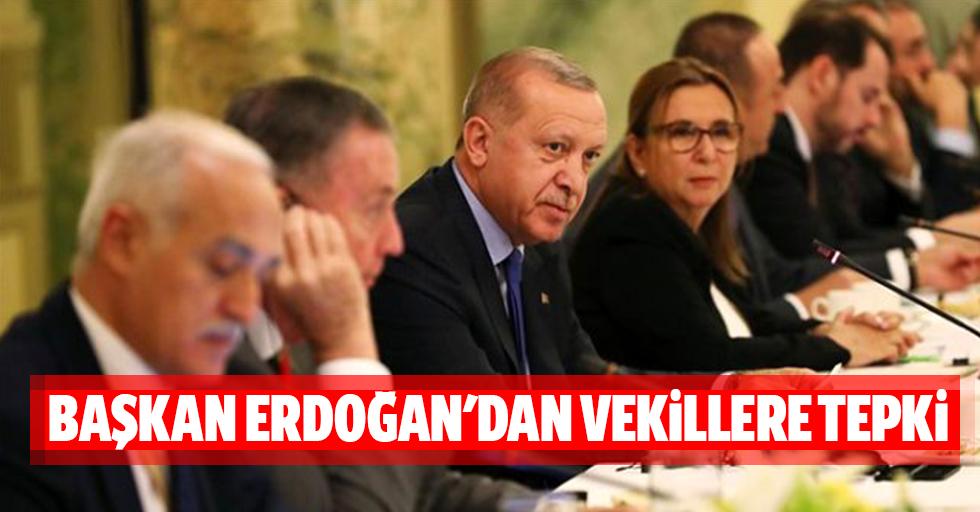 Başkan Erdoğan'dan vekillere tepki