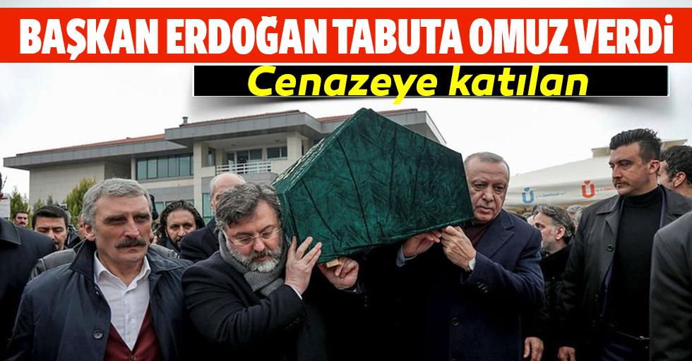 Başkan Erdoğan tabuta omuz verdi