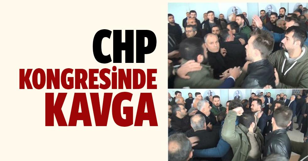 CHP kongresinde arbede! Çevik kuvvet salona girdi
