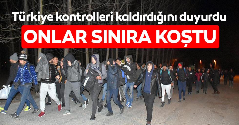 Türkiye'nin kontrolleri durduracağını duydular sınıra koştular