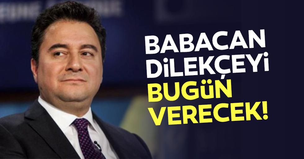 Ali Babacan, yeni partinin kuruluş dilekçesini bugün İçişleri Bakanlığı'na verecek
