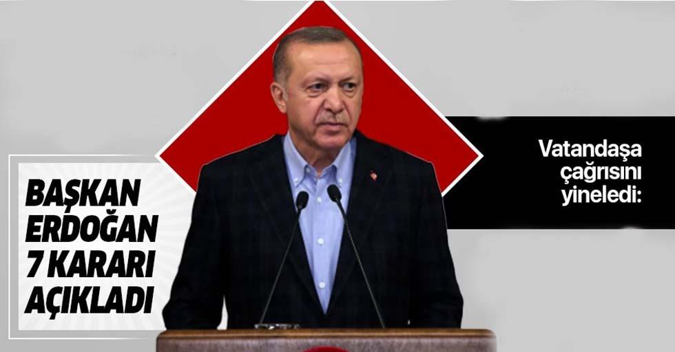 Başkan Erdoğan koronavirüsle mücadelede yeni tedbir paketini açıkladı