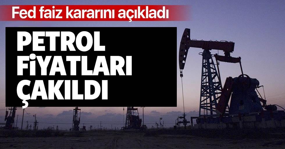 Faiz indirimi sonrası petrol fiyatlarında sert düşüş