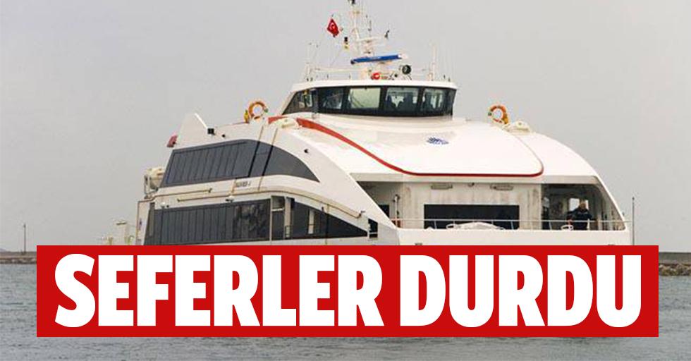 İstanbul'da seferler durdu