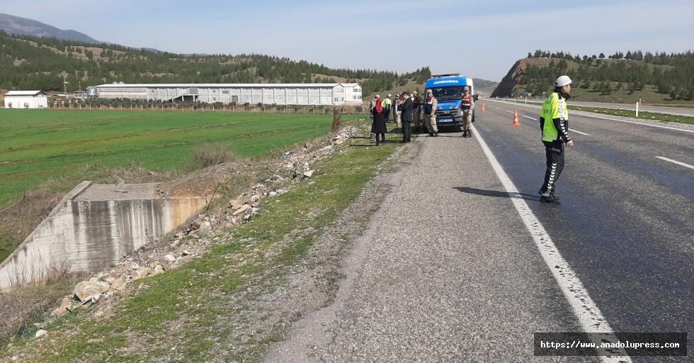 Kahramanmaraş'ta kaza:1 ölü
