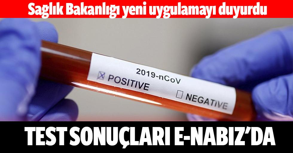 Test Sonuçları E-Nabız'da