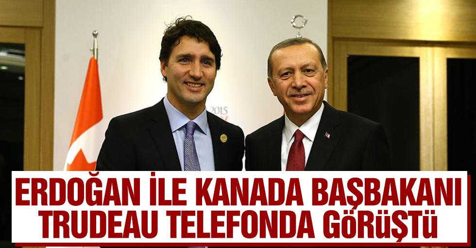 Cumhurbaşkanı Erdoğan İle Kanada Başbakanı Trudeau Telefonda Görüştü