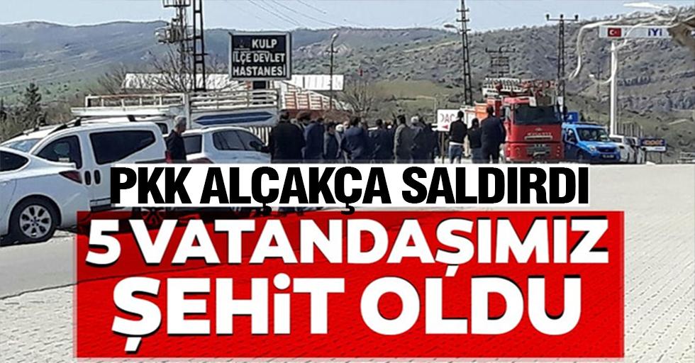 Diyarbakır'da sivillere yönelik terör saldırısı: 5 sivil şehit oldu