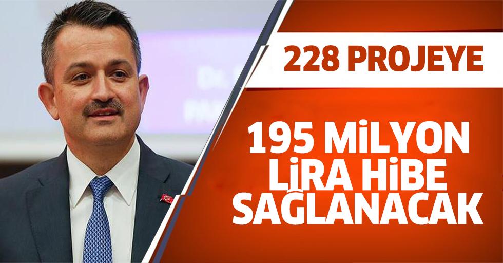 Kırsal kalkınma için 228 PROJEYE 195 milyon lira hibe sağlanacak