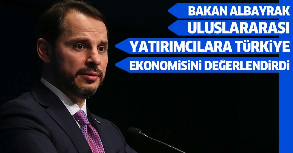 Bakan Albayrak, Uluslararası Yatırımcılara Türkiye Ekonomisini Değerlendirdi