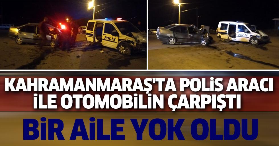 Kahramanmaraş'ta Polis Aracı İle Otomobilin Çarpıştı