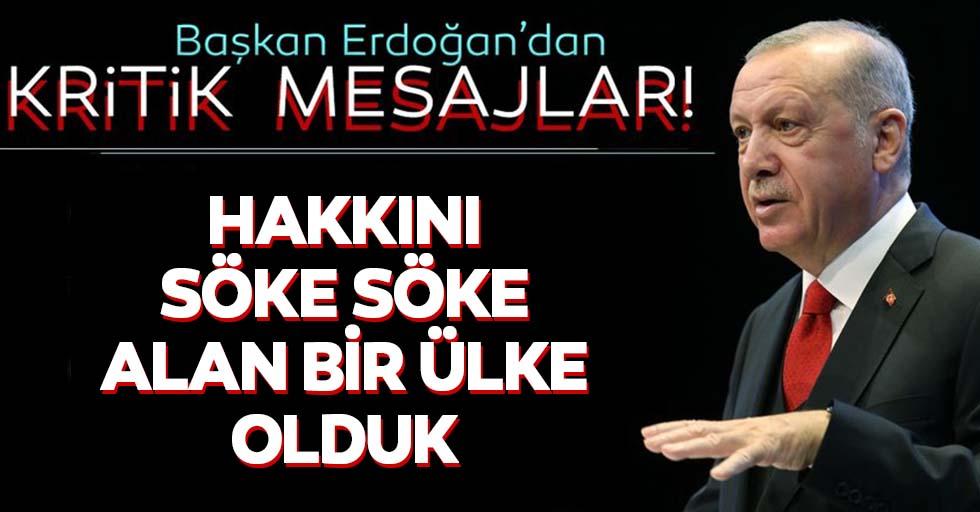 Başkan Recep Tayyip Erdoğan'dan flaş açıklamalar