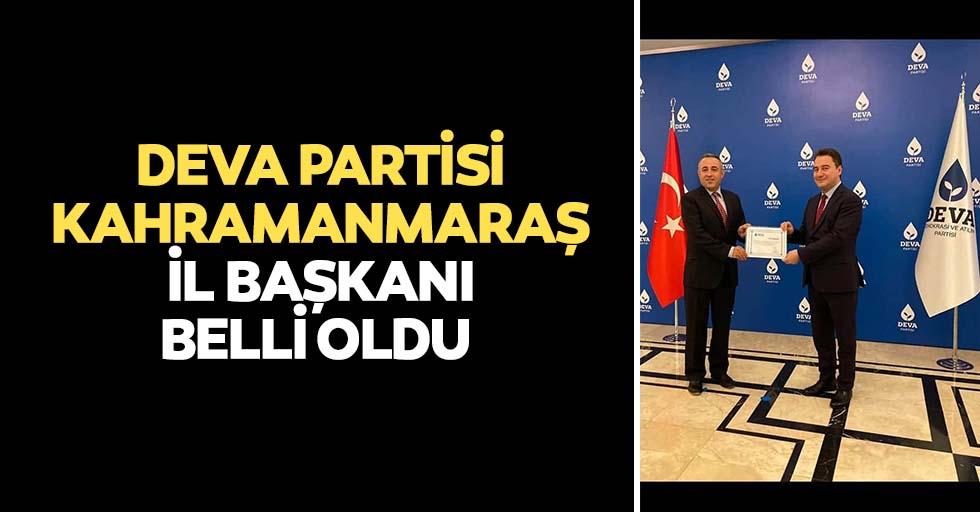 Deva partisi Kahramanmaraş il başkanı belli oldu