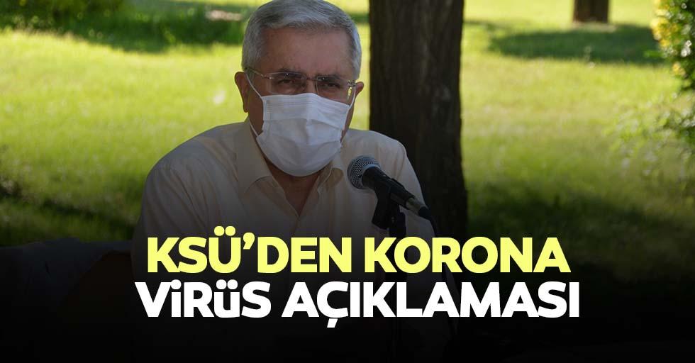 KSÜ'den korona virüs açıklaması