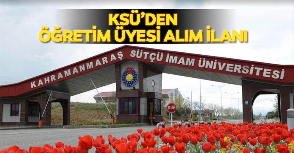 KSÜ'den öğretim üyesi alım ilanı