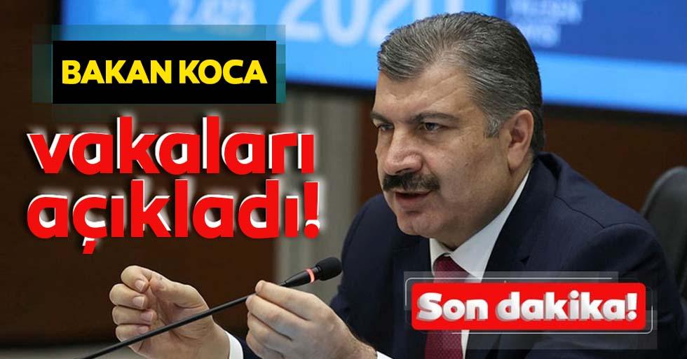 Sağlık Bakanı Fahrettin Koca koronavirüs vefat ve vaka sayılarını açıkladı