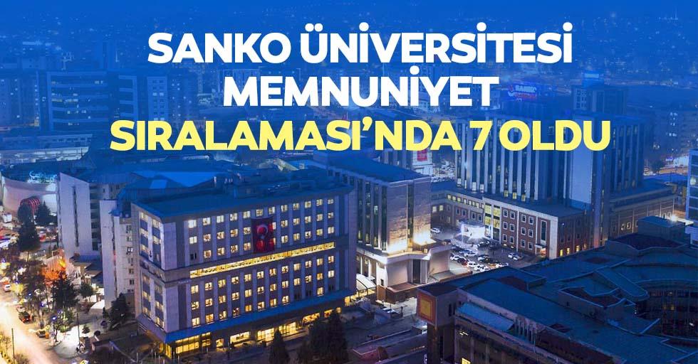 SANKO üniversitesi, memnuniyet sıralaması'nda 7 oldu