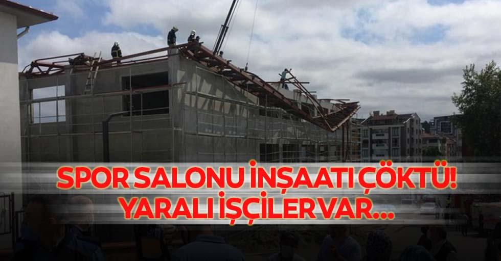 Spor salonu inşaatı çöktü! Yaralı işçiler var...