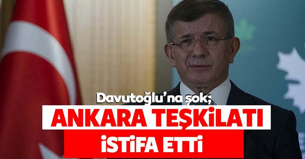 Davutoğlu'na şok! Ankara teşkilatı istifa etti