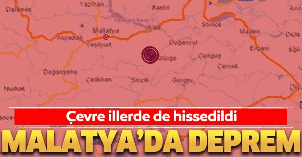 Malatya deprem ile sallandı! Diyarbakır ve Elazığ'da da hissedildi