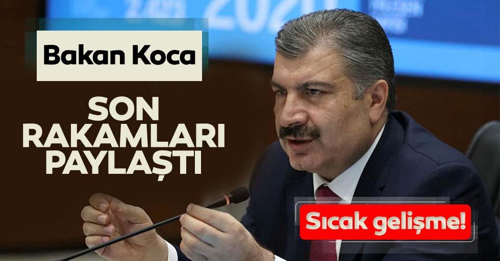 Sağlık Bakanı Fahrettin Koca koronavirüs vefat ve vaka sayılarını açıkladı!