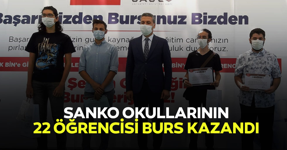 Sanko Okullarının 22 Öğrencisi Burs Kazandı