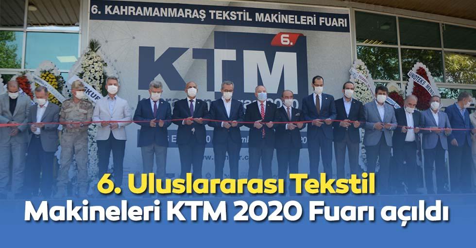 6. Uluslararası Tekstil Makineleri KTM 2020 Fuarı açıldı
