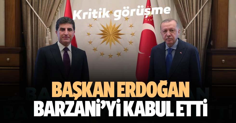 Başkan Erdoğan Barzani'yi kabul etti