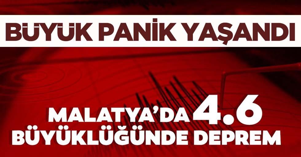 Malatya 4.6 deprem ile sallandı!