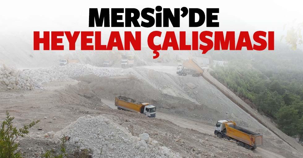 Mersin'de heyelan çalışması