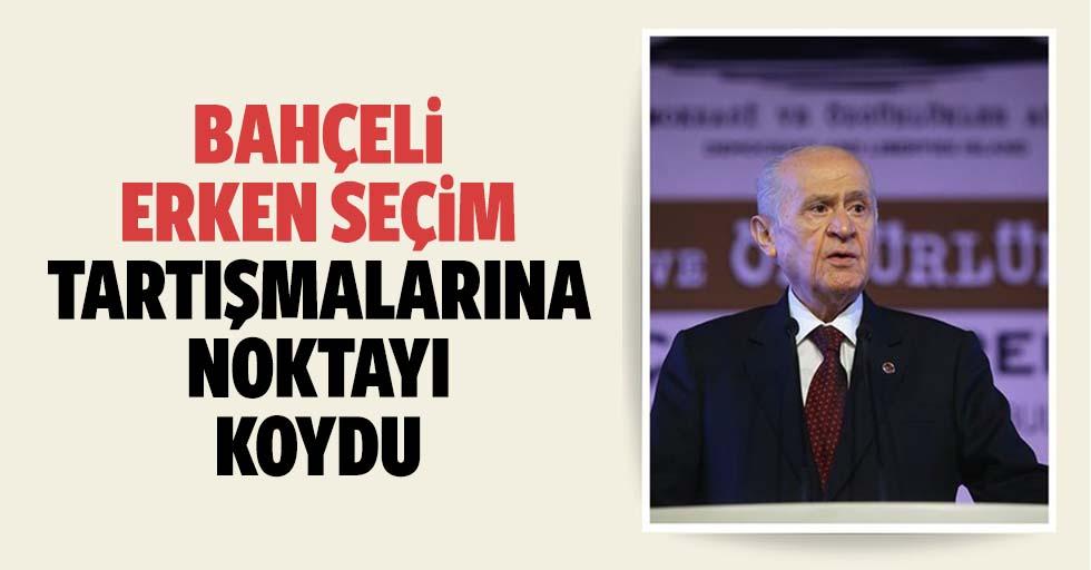 MHP Lideri Devlet Bahçeli'den flaş açıklama!