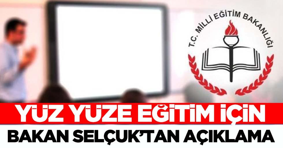 Milli Eğitim Bakanı Ziya Selçuk'tan okulların açılması hakkında son dakika açıklaması!