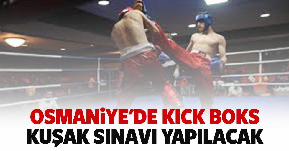 Osmaniye'de kick boks kuşak sınavı yapılacak