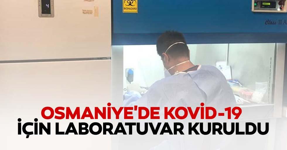 Osmaniye'de kovid-19 için laboratuvar kuruldu