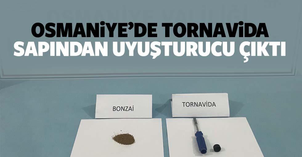 Osmaniye'de tornavida sapından uyuşturucu çıktı