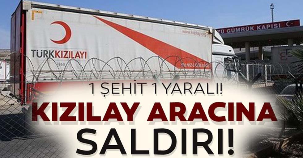 Suriye'nin kuzeyinde Türk Kızılay aracına kalleş saldırı