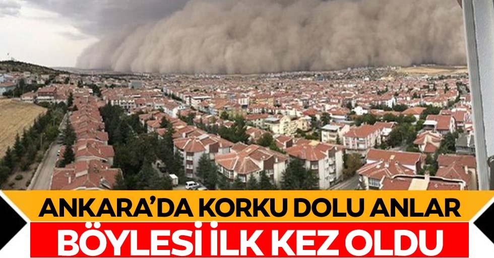 Toz bulutu Ankarayı esir aldı