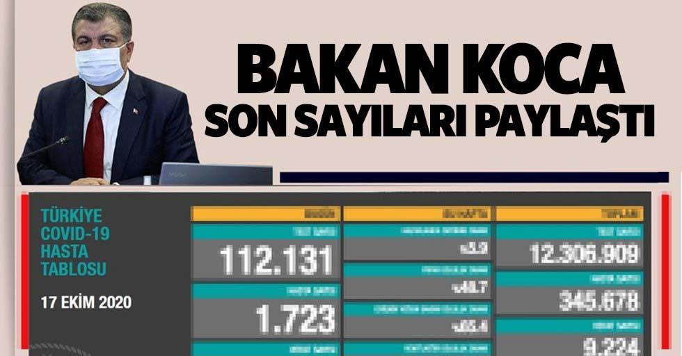 Bakan Fahrettin Koca 17 Ekim koronavirüs hasta ve vefat sayılarını açıkladı!