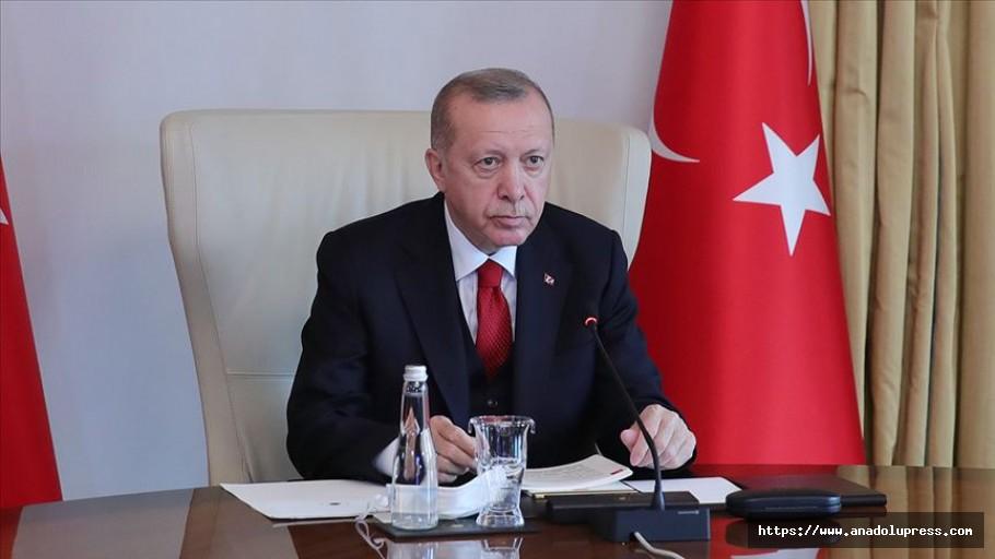 Erdoğan: Kovid-19 salgını son bir asrın en büyük sağlık krizlerinden biri