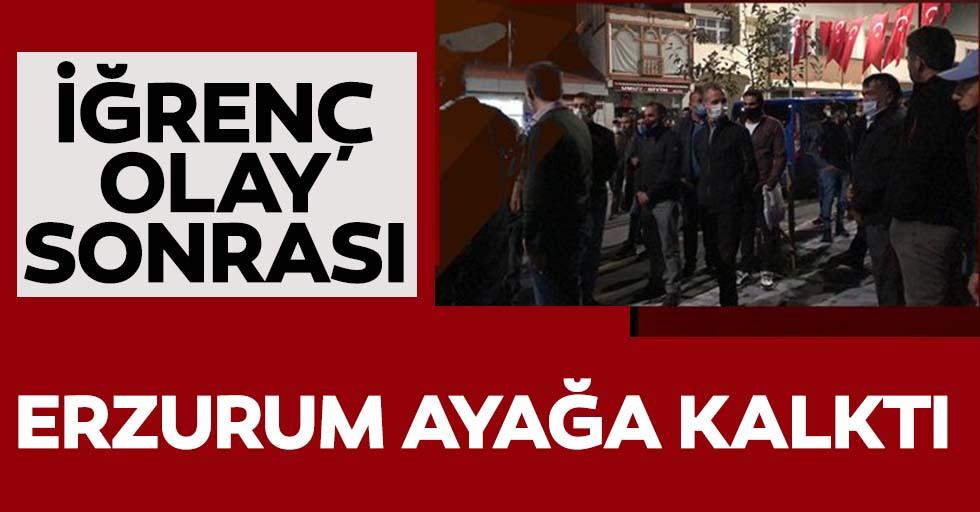Erzurum'daki taciz iddiası vatandaşları ayağa kaldırdı!