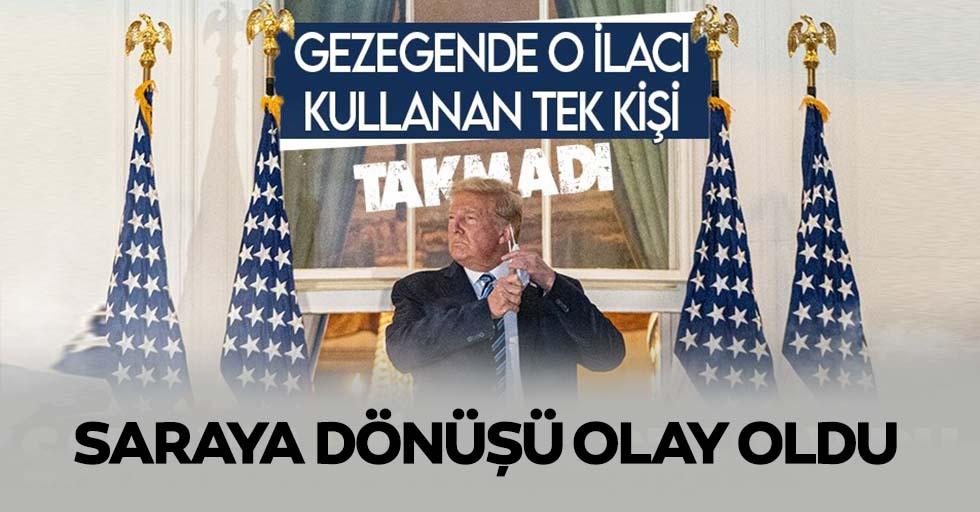 Koronaya yakalanan Donald Trump'ın Beyaz Saray'a dönüşü olay oldu!