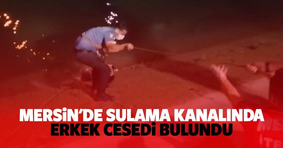 Mersin'de sulama kanalında erkek cesedi bulundu