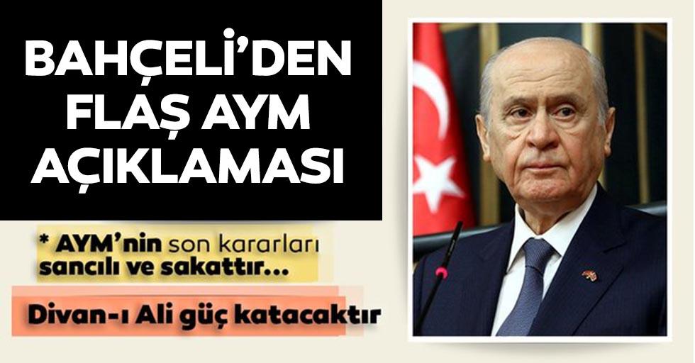 MHP lideri Bahçeli: AYM yeniden yapılandırılmalı