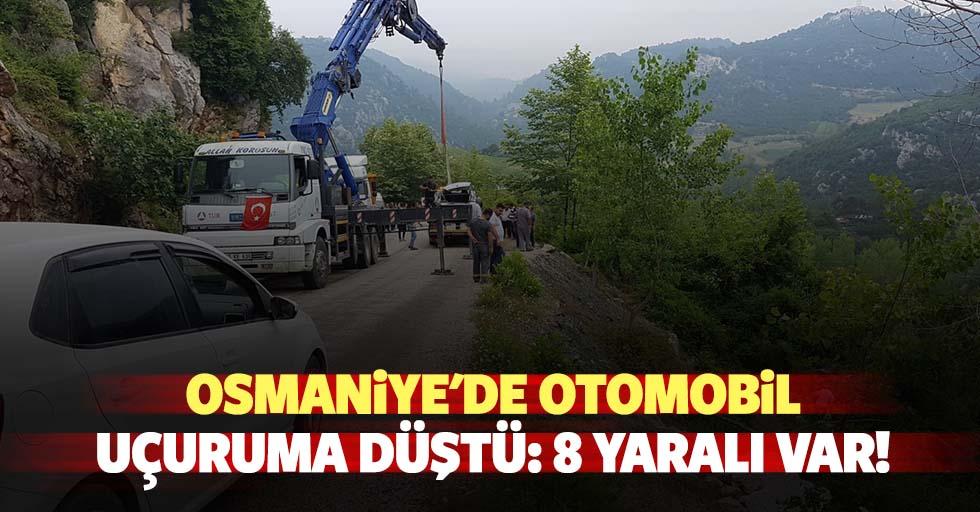 Osmaniye'de otomobil uçuruma düştü: 8 yaralı