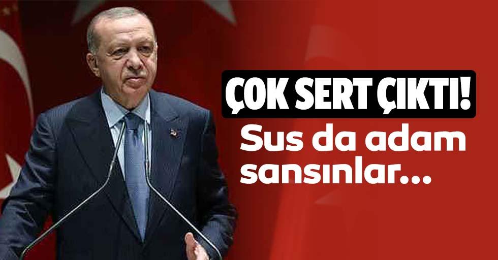 Başkan Erdoğan'dan Kemal Kılıçdaroğlu'na İzmir depremi tepkisi: Sus da adam sansınlar...