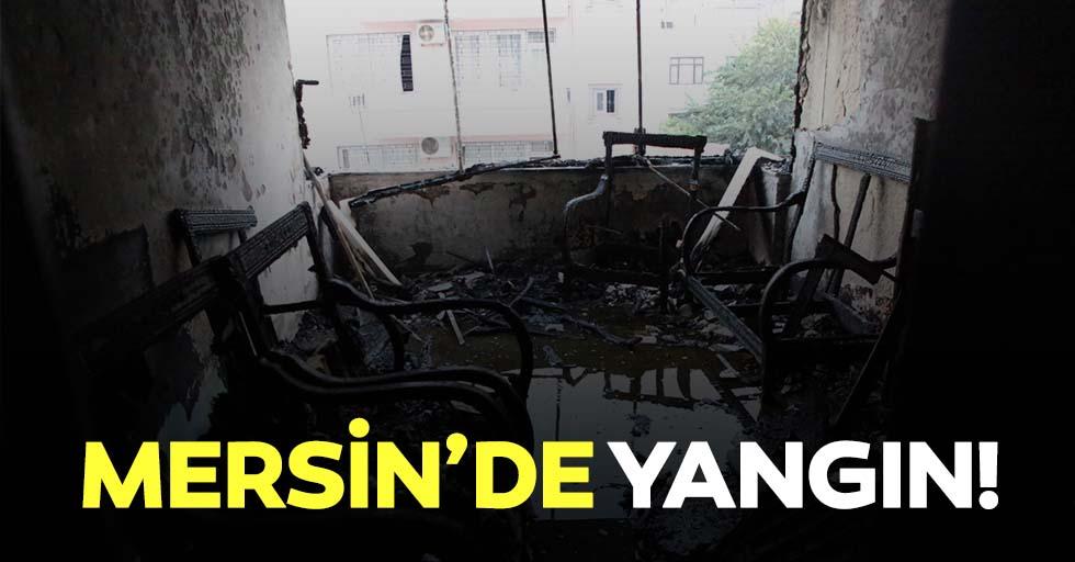 Mersin'de ev yangını hasara yol açtı